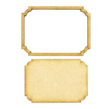 Frame and Panel 21 - Wooden 3mm MDF Laser Cut Craft Blank Scrapbook Topper